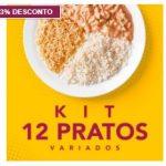 Kit de 12 pratos no PF Chic