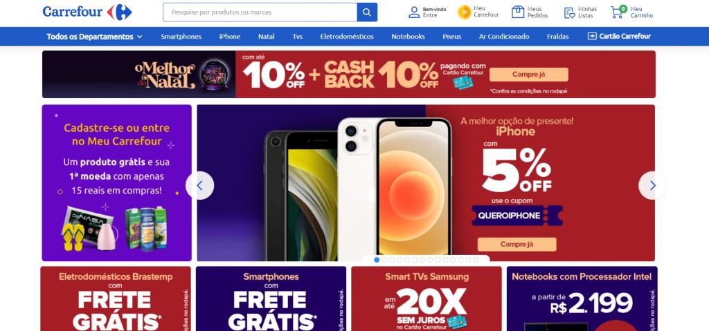 Imagem site carrefour um dos melhores sites para comprar celular