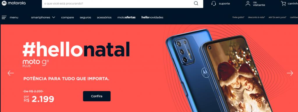Imagem site Motorola um dos melhores sites para comprar celular