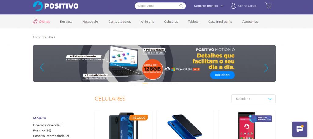 Imagem site positivo um dos melhores sites para comprar celular