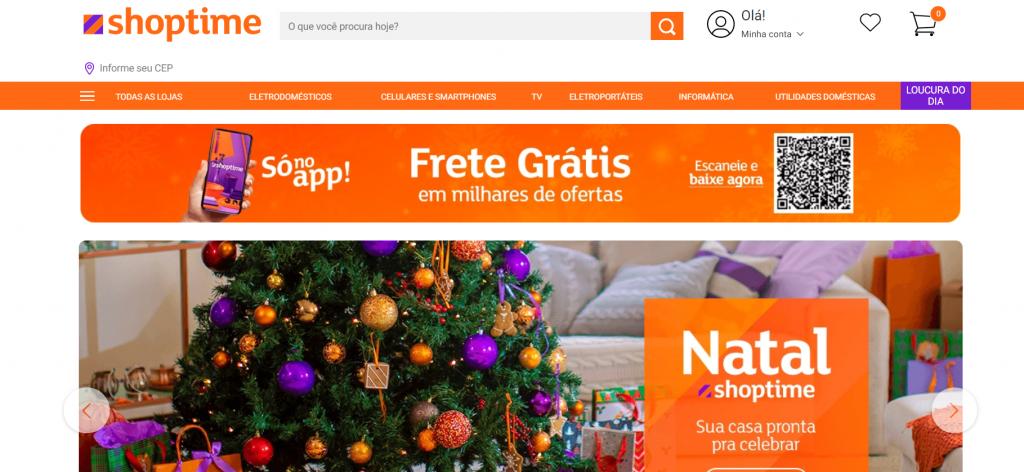 Imagem site shoptime um dos melhores sites para comprar celular