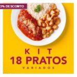 Kit 18 pratos PF Chic 13% OFF