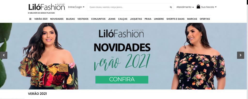 Imagem site Lilo fashion