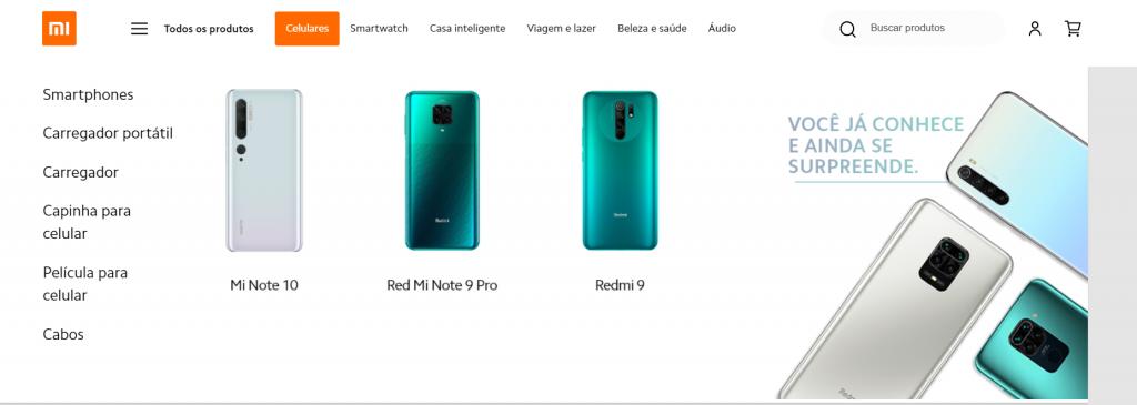 Imagem site xiaomi um dos melhores sites para comprar celular
