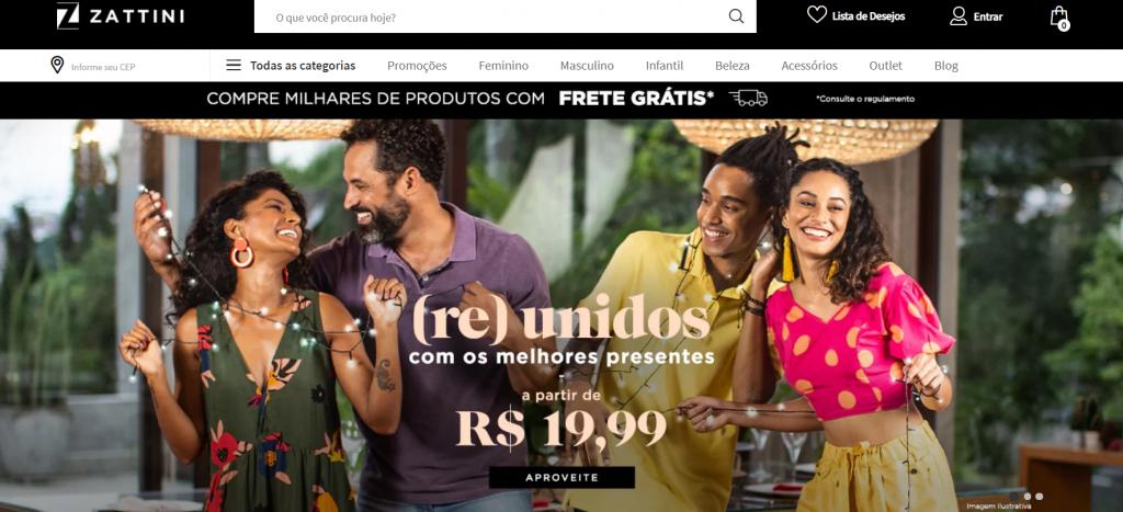 zattini - sites para comprar roupas