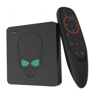 Controle GT-King TV Voice Box 4 + 64GB Android 9.0 4K WiFi 1000M USB