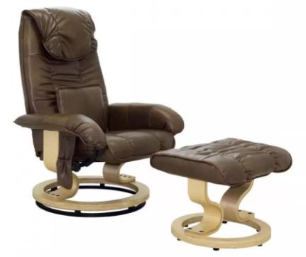 Modelo Poltrona de Massagem da Rivatti Louisiana Marrom Vintage