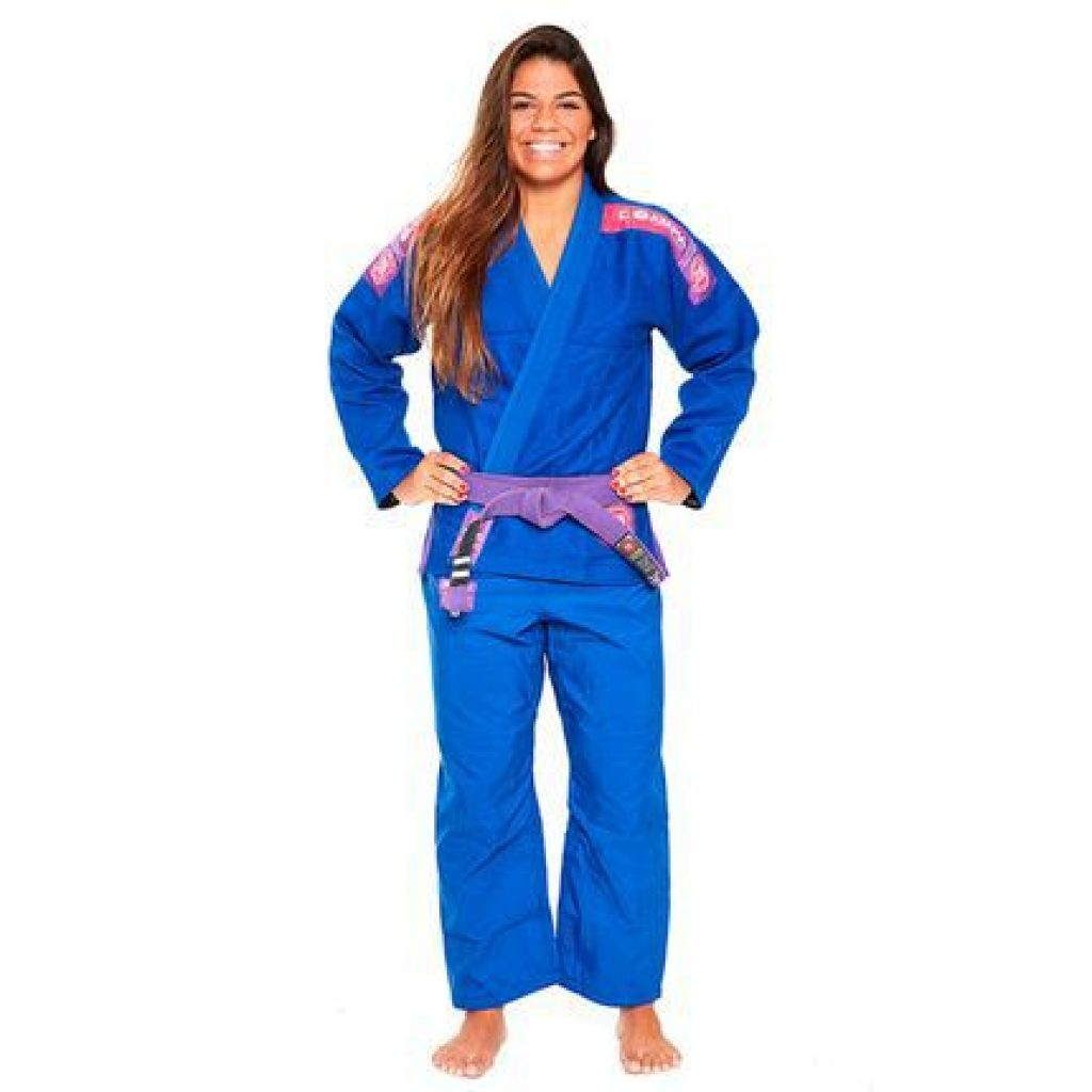 Modelo Kimono Jiu-Jitsu Atama Trançado Ultra Light 2.0 Feminino - Azul