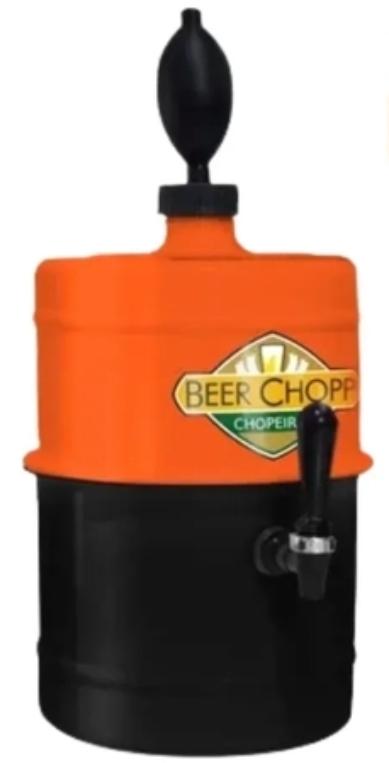 Modelo Chopeira a Gelo da Beer Chop Laranja Preta Portátil Residencial Completa 5,1 L