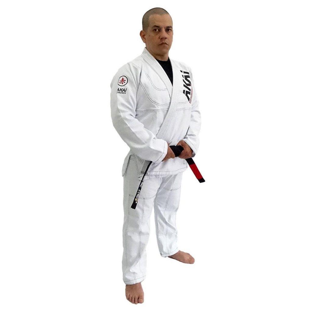 Modelo Kimono Jiu-Jitsu Akai Pro BJJ - Branco