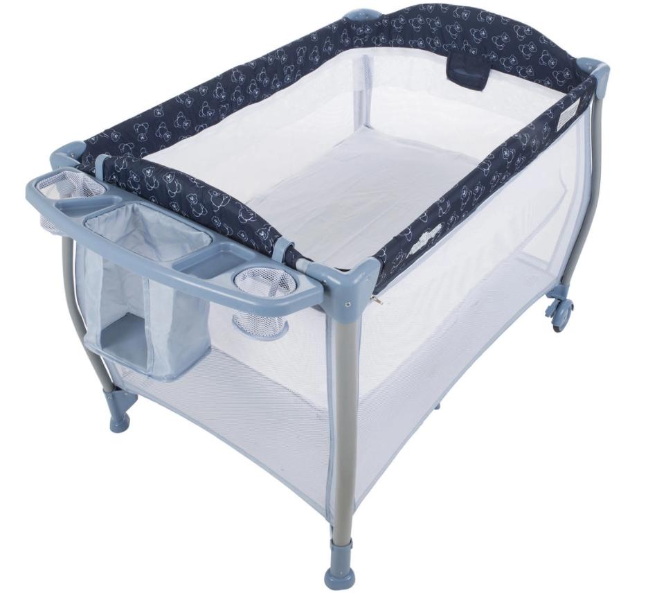 Modelo Berço portátil da Burigotto Aconchego Dark Blue