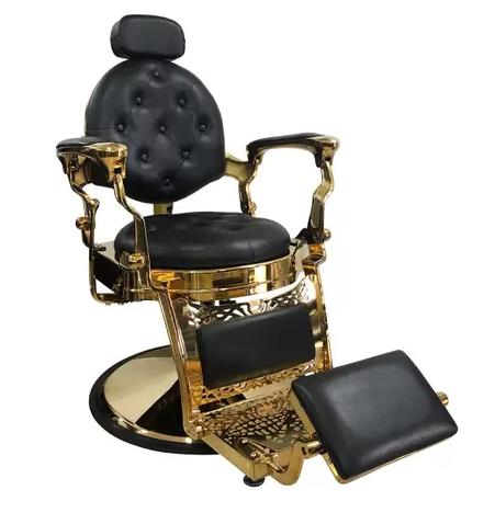Modelo Cadeira de Barbeiro da Tera Móveis Reclinável Lord Gold