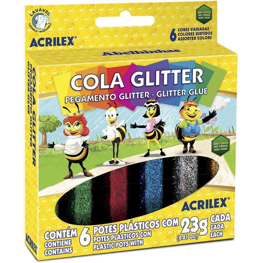 Cola colorida acrilex 1
