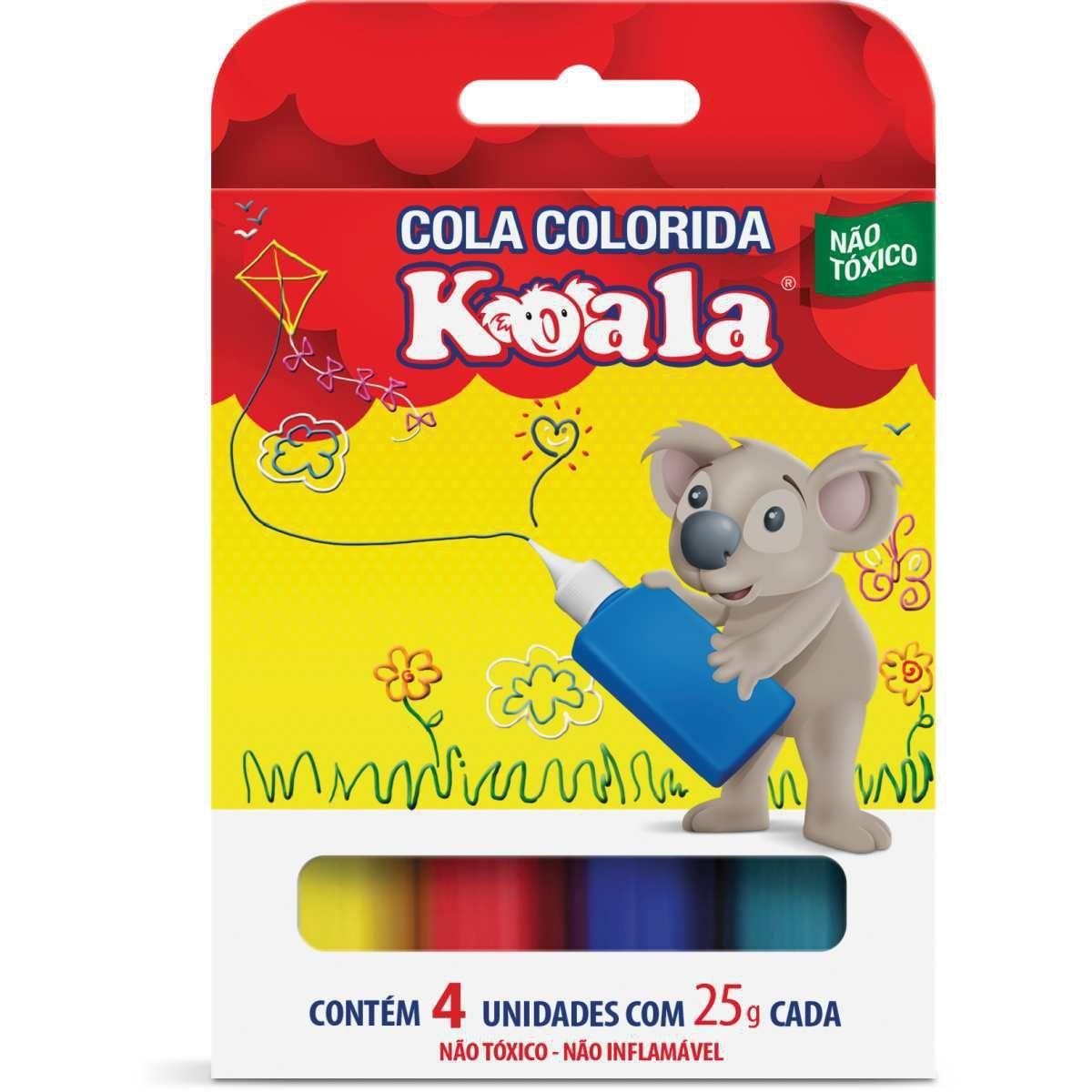 Cola colorida koala