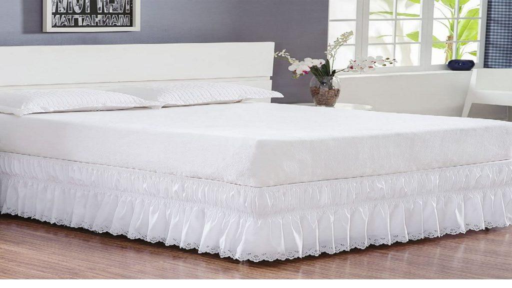 Modelo Saia para cama box queen da Borda Bordados Enxovais - Perolla Bordado Ultrassônico