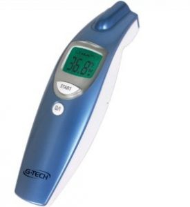 Modelo Termômetro Clínico G-Tech Digital de Testa Sem Contato - Medição da Temperatura Corpórea, Ambientes e Superfícies