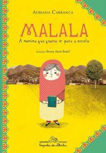 Capa do livro Malala, a menina que queria ir para a escola