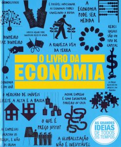 Capa da obra O livro da Economia, da coleção As grandes ideias de todos os tempos