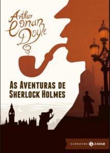 Capa do livro As aventuras de Sherlock Holmes edição bolso de luxo