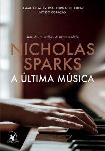 Capa do livro A última música de Nicholas Sparks