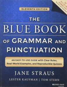 Capa do livro The Blue Book of Grammar and Punctuation