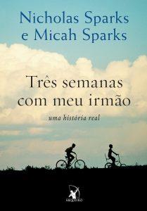 Capa do livro Três semanas com meu irmão de Nicholas Sparks