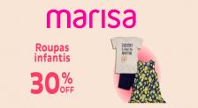 Cupom Marisa moda infantil 30% de desconto