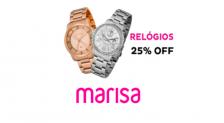 Cupom Marisa Relógios 25% de desconto