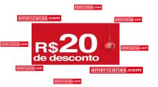Cupom primeira compra Americanas R$20 OFF