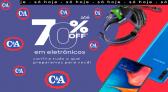 Descontos em Eletrônicos C&A 2021 com até 70% OFF
