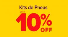 Cupom Carrefour kits de pneus: 10% de desconto