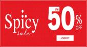 Sale Spicy até 50% de desconto