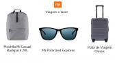 Descontos Xiaomi categoria Viagem e Lazer 8% OFF