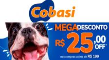 Cupom Cobasi R$25 de desconto
