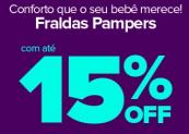 Fraldas Pampers no Carrefour até 15% OFF