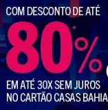 Black Friday Casas Bahia até 80% OFF